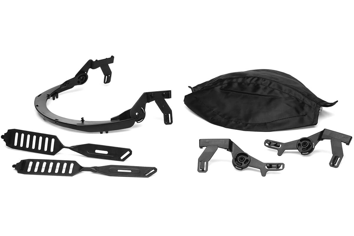 Accessories for hearing protection with visor