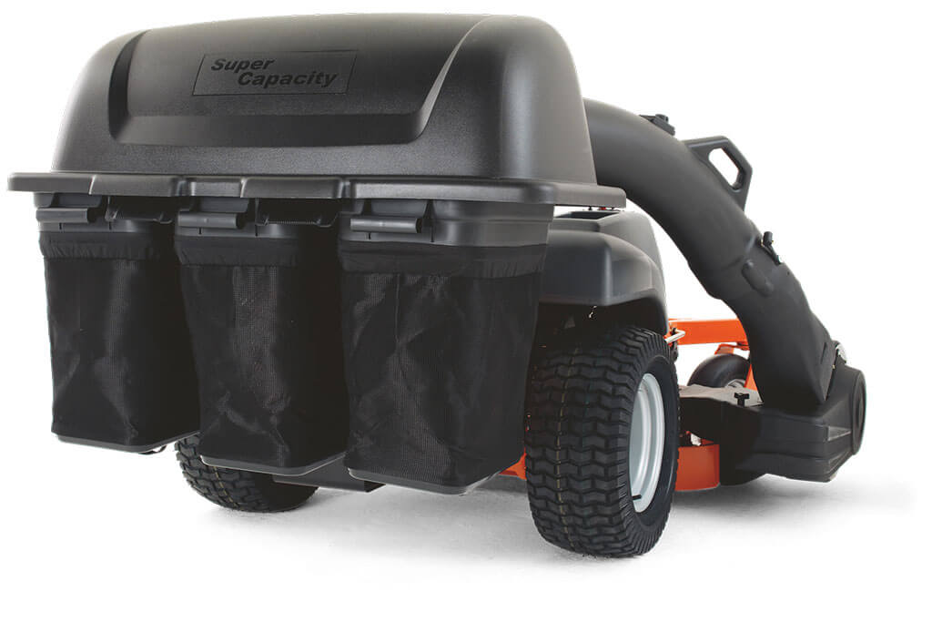ZTR® Zero Turn Triple Bin Collection System with Blower